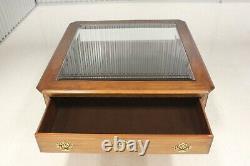 Vintage Chippendale Style Cerise Solide Tableau De Café