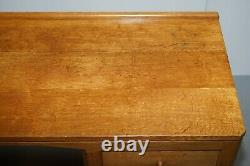 Vintage Circa 1970 Robert Thompson Mouseman Oak Kneehole Desk Dressing Table