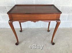 Vintage De Haute Qualité En Acajou Massif Style Queen Anne Table À Thé