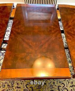 Vintage Drexel Patrimoine Chippendale Dining Table Set (6 Chaises, Table Avec Feuille)