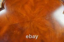 Vintage George III Chippendale Style Acajou Pie Croûte Table De Table Latérale Griffe 29