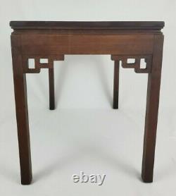 Vintage Kittinger Chinois Chippendale End Table En Bois D'acajou A604