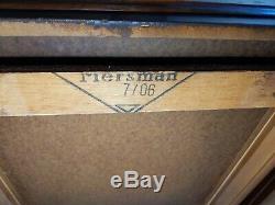 Vintage Milieu Du Siècle Mersman 7706 Paire De Rolling End Step Tables Veneer