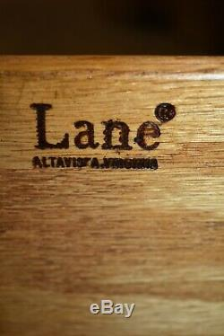 Vintage Paire De Lane Marqueté Chinois Chippendale Tables Mahogany Side