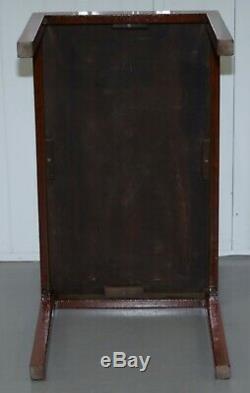 Vintage Rrp £ 1400 Harrods Londres Acajou Et Laiton Campagne Militaire Table Basse
