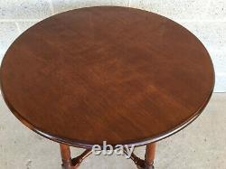 Vintage Stickley Brothers Solid Cherry Table De Lampe Ronde
