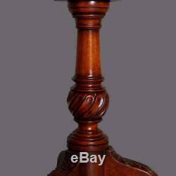 Vintage Style Chippendale En Acajou Sculpté Tilt Top Pie Crust Table, Vers 1930