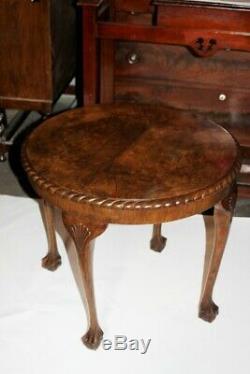 Vintage Style Chippendale Sculpté Table Basse Avec Pieds Boule Et Griffe 5362