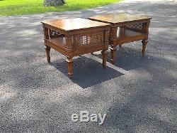 Weiman Tables De Côté Heirloom Qualité. MCM Classique Cane Table Post 1930 D'origine