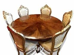 William IV 5ft Style De Ronce De Noyer Grande Table À Manger. Poli Pro Français